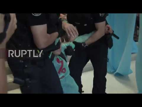 France: 'Tax Evasion Kills!' Activists Turn Apple Store To An Emergency Ward