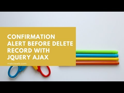 Confirmation alert Before Delete record with jQuery AJAX thumbnail