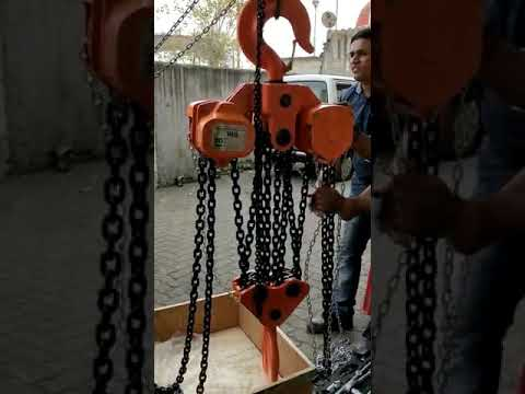 20 tons chain pulley block working trial. 8 falls of  grade