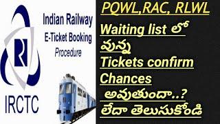 What is PQWL,RLWL,RAC chances In Telugu