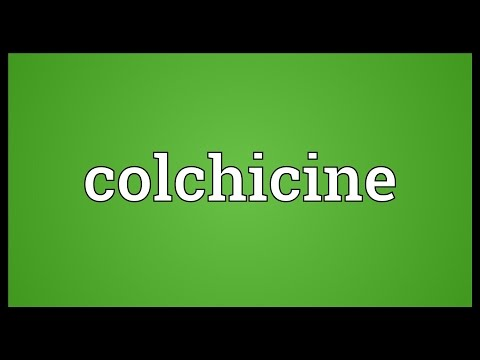 Colchicine Meaning