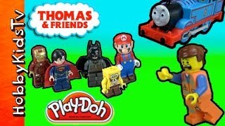 Where is Emmet?  Thomas The Train LEGO Batman Superman Super Mario Spongebob Squarepants Iron Man
