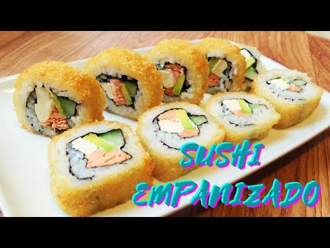 Rollo De Sushi Empanizado Philadelphia Youtube