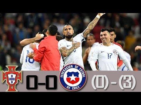 Portugal vs Chile 0-0 (0-3) Resumen y PENALES Semifinal Confederaciones 2017