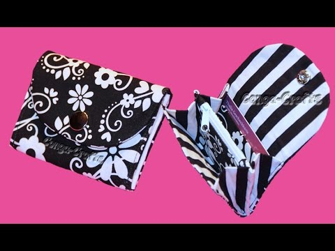 Kleiner/Mini Geldbeutel - mini purse DIY - YouTube