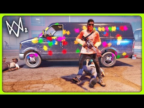PAINTBALL GUN AND NEW GAME MODES!   Watch Dogs 2 Free Roam