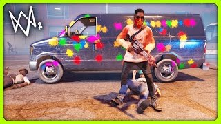PAINTBALL GUN AND NEW GAME MODES! | Watch Dogs 2 Free Roam