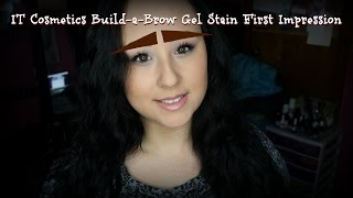 IT Cosmetics Build-a-Brow Gel Stain First Impression | MsNikkiGBeauty