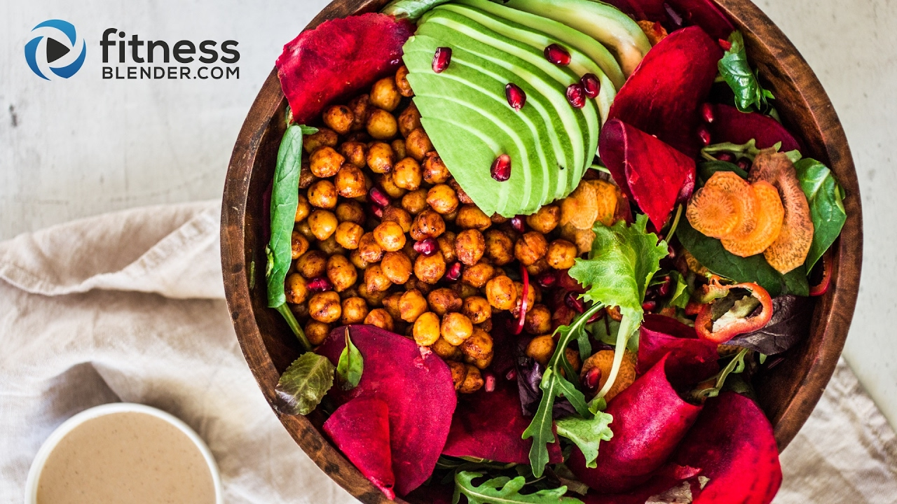 Harvest bowl with Chickpeas  Greens   Veggies - Eat Real Food