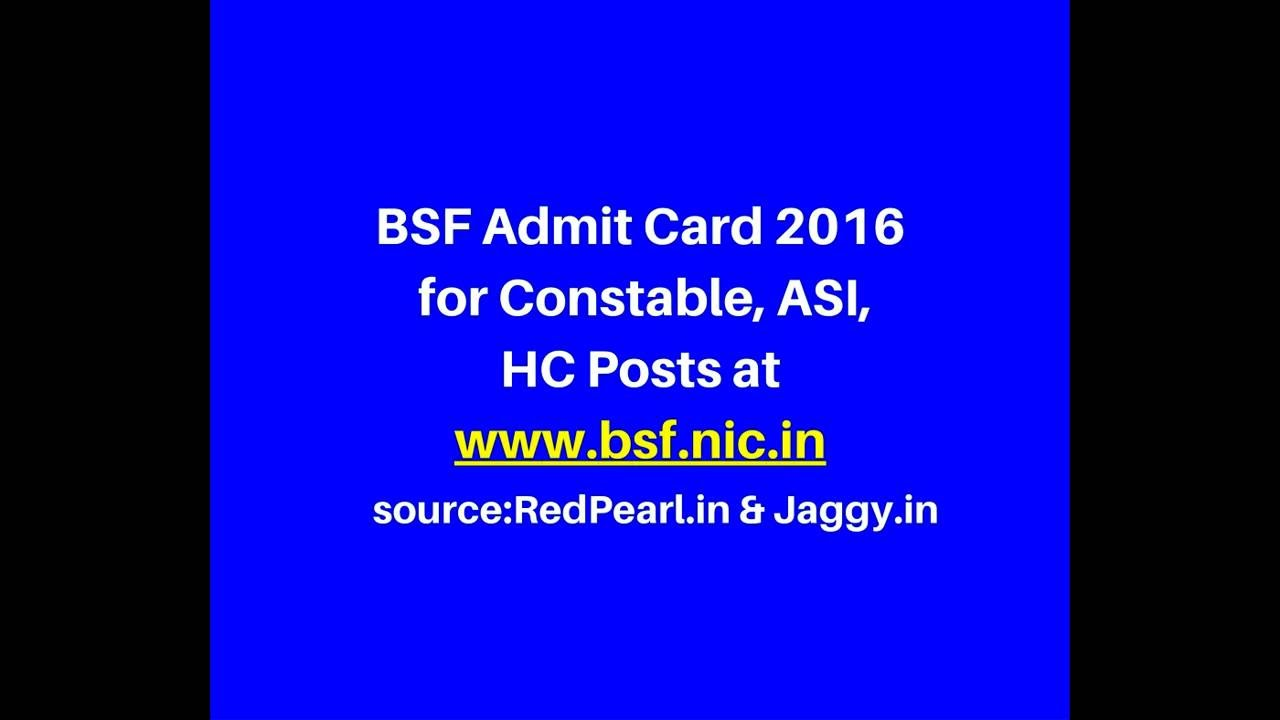 BSF Admit Card 2016 | Constable, ASI, HC Posts | Jaggy - YouTube on application clip art, application for rental, application for employment, application to date my son, application for scholarship sample, application trial, application to join motorcycle club, application meaning in science, application submitted, application service provider, application database diagram, application insights, application to be my boyfriend, application template, application approved, application cartoon, application to join a club, application to rent california, application error, application in spanish,