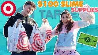 $100 SLIME SUPPLIES CHALLENGE | TARGET SHOPPING FOR SLIME