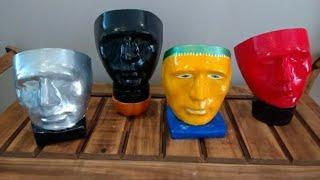 Máscaras de gesso muito fácil de fazer