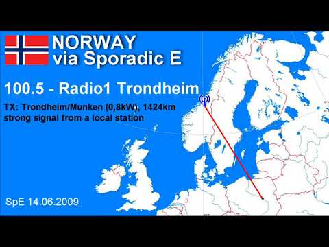 NORWAY via Sporadic E (FM DX archive)