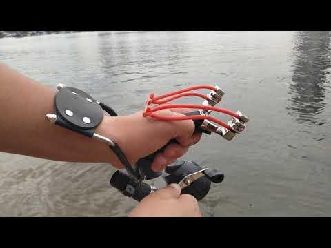 Рогатка для рыбалки, мой первый опыт стрельбы, Чингу привет.