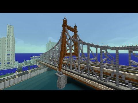Queensboro Bridge in Minecraft (Kingsborough Bridge in NSP)