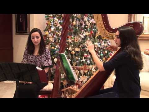 Silent Night, flute and harp duet