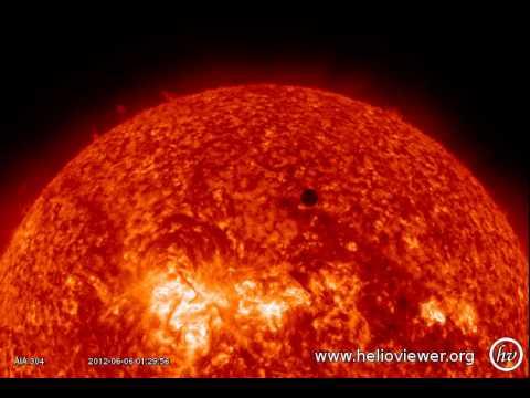 VENUS AIA 304 (2012-06-05 18:00:08 - 2012-06-06 06:40:20 UTC)
