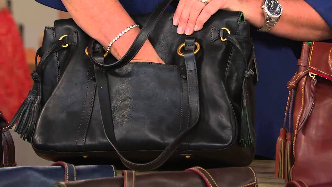 Dooney Bourke Floine Leather Smith Bag With Sharon Faetsch