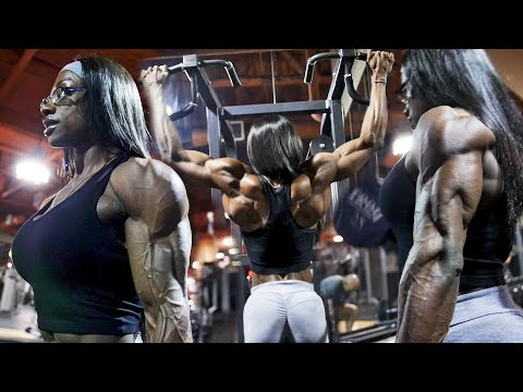 Ms. Olympia Shanique Grant - Crazy V-Taper Back Day!