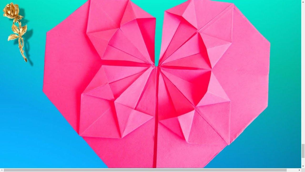 Origami Cœur Fleurissant Youtube