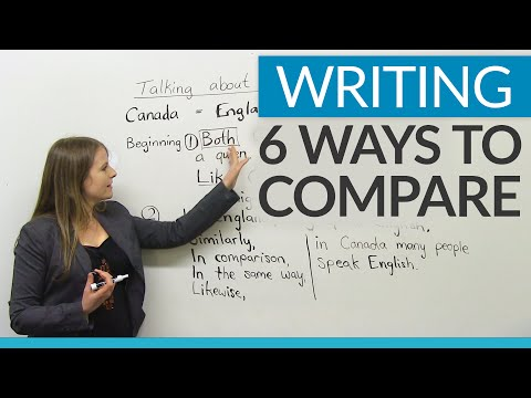 Improve Your Writing - 6 ways to compare