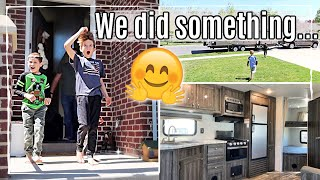 SURPRISING OUR KIDS!! 😱 DAY IN THE LIFE of a FAMILY OF 5 VLOG :: EMPTY RV TOUR + CAMPER HAUL