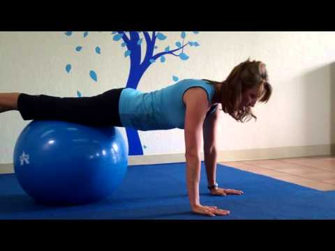 Stability Ball Push Ups for Any Body