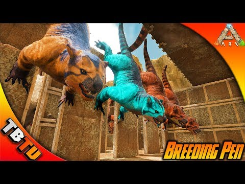 🚩BEST WAY TO MASS BREED THYLACOLEO PERIOD! NEW THYLACOLEO BREEDING PEN! Ark Survival Scorched Earth