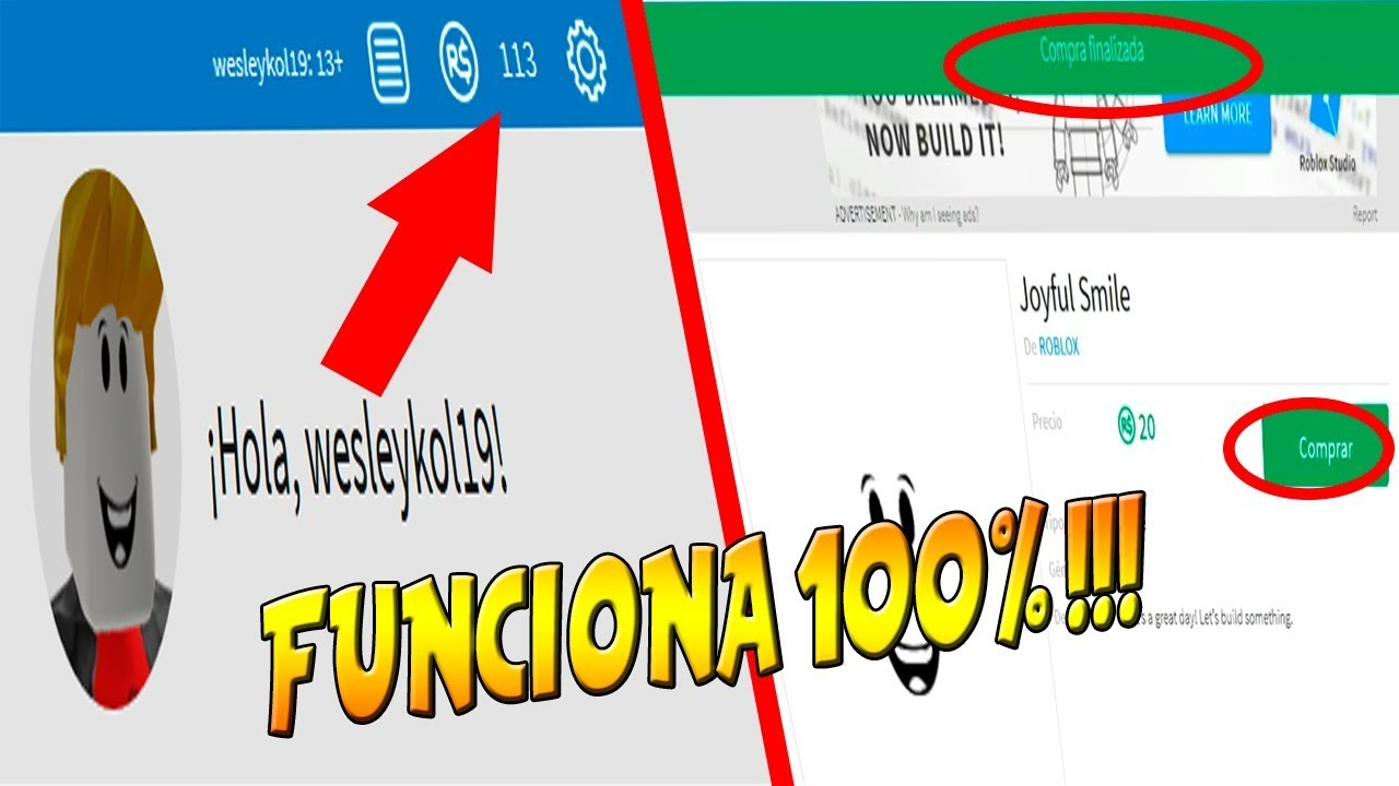 Como Conseguir Robux Gratis Para Movil Como Tener Robux Gratis Sin Hacks Facil Y Rapido 2018 2019 Youtube