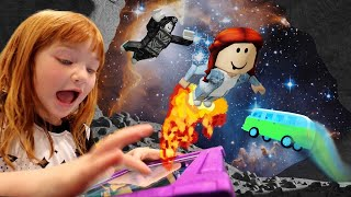 ROBLOX CAMPiNG with ADLEY!! Spy Dad Escape! Wolf Family! Backyard Snowboarding! game play app review