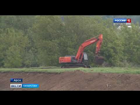 В Арском районе взялись за расчистку притока Казанки