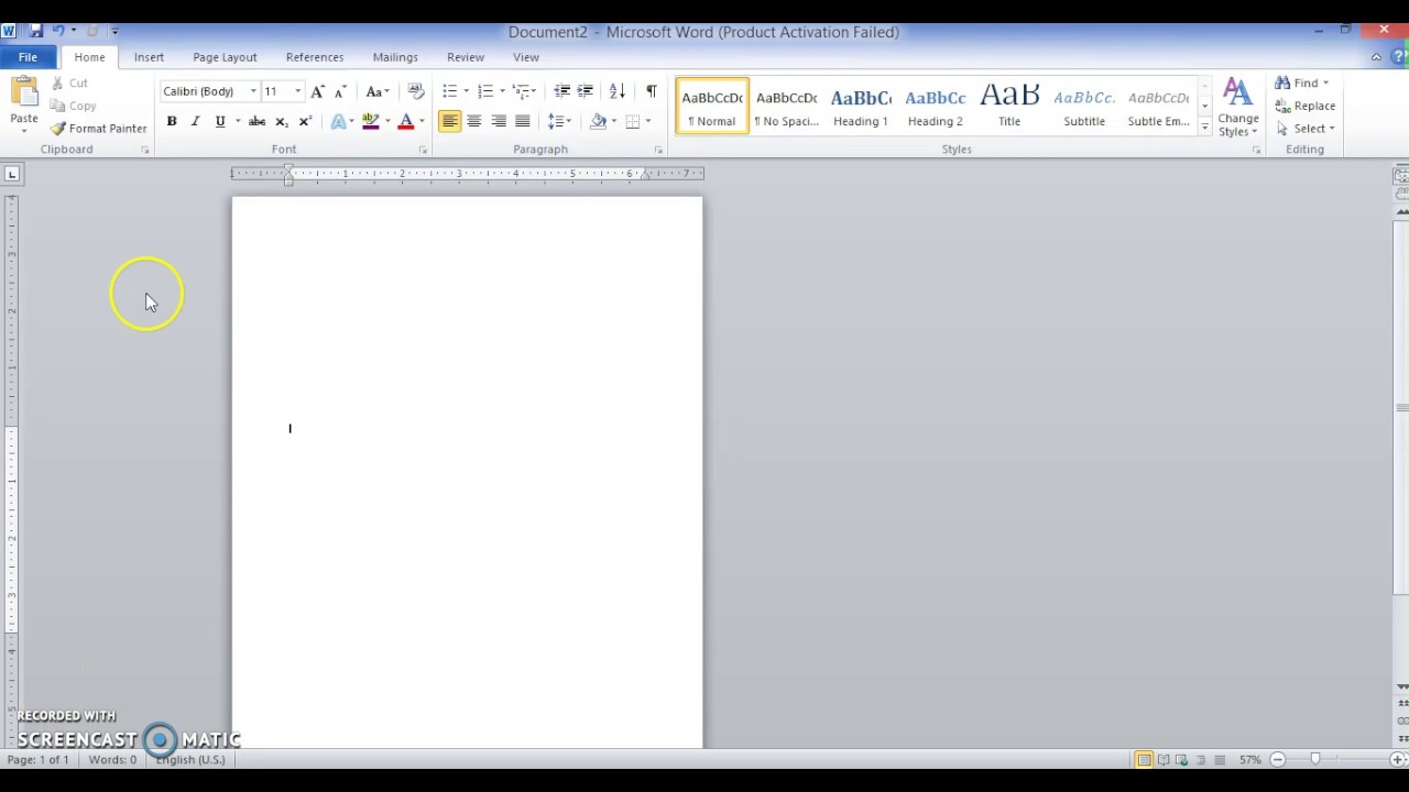 creating letterhead in word