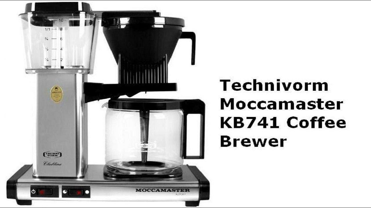Technivorm Moccamaster Kb741 Coffee Brewer Youtube