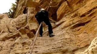 Fr. Paisius climbing Debra Damo