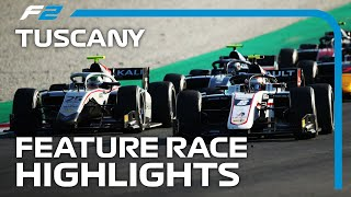 F2 Feature Race Highlights | 2020 Tuscan Grand Prix