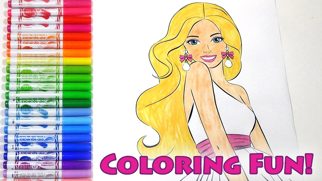 barbie movie coloring princess wedding dress colouring page for