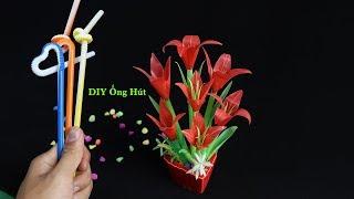 Quà tặng ý nghĩa - Làm chậu hoa Ly bằng Ống Hút