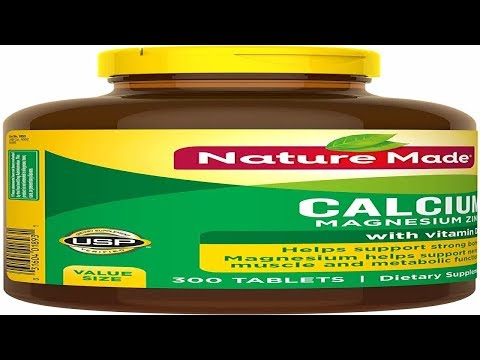 Nature Made Calcium Magnesium Zinc With Vitamin D3 300 Count For Bone Health Packaging May Vary