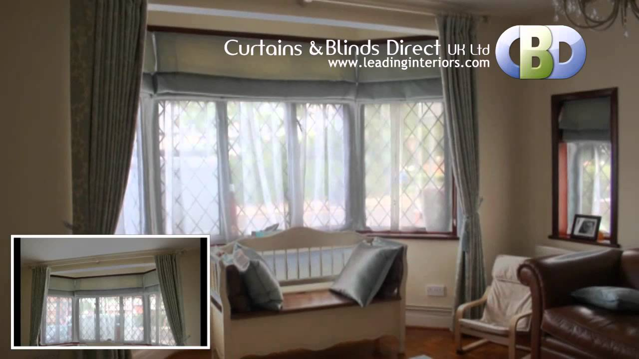 Baywindow Roman Blinds At Www Leadinginteriors Com