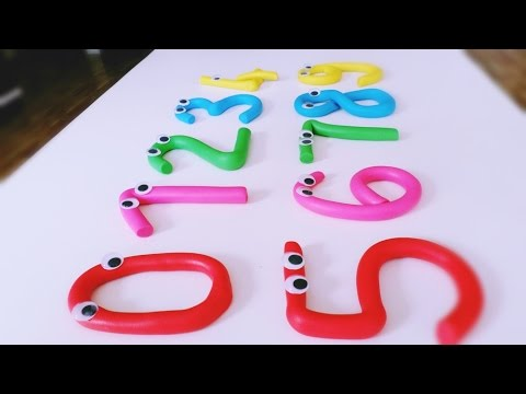 Play Doh Numbers - 0 1 2 3 4 5 6 7 8 9 - Learn To Count with PLAY-DOH Numbers!