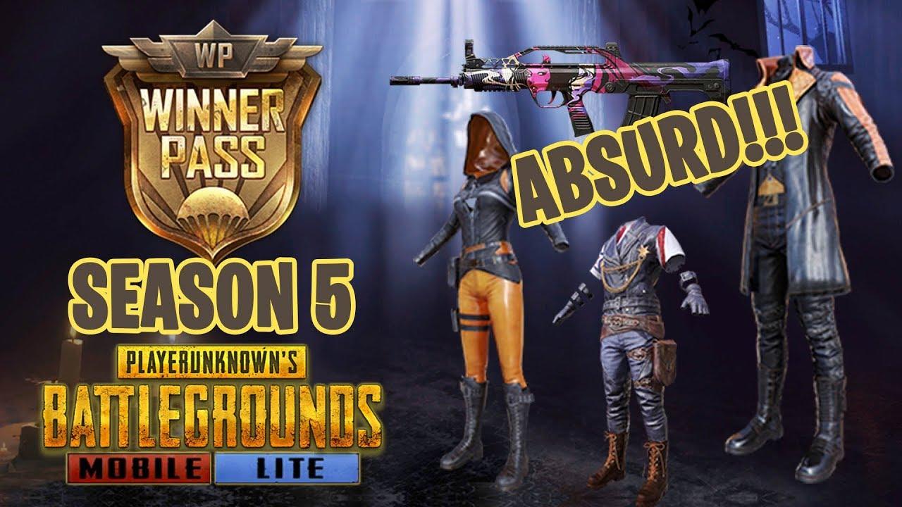 Update 0.14.2 dan Winner Pass Absurd Season 5 PUBG Mobile LITE