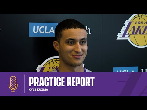 Kyle Kuzma talks about his health, the second half of the season, and Team USA | Lakers Practice