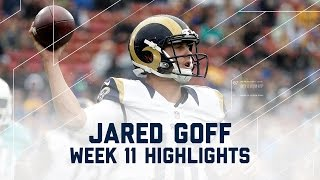 Jared Goff's First Career Start | Dolphins vs. Rams | NFL Week 11 Player Highlights