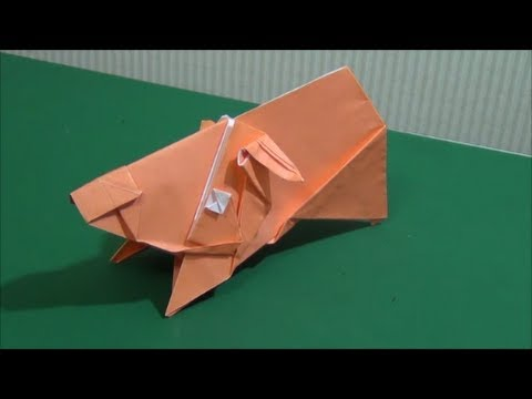 """Pig""Origami「ブタさん」立体折り紙 - YouTube - photo#24"