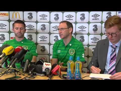 Martin O'Neill Press Conference Euro 2016 Qualifiers Republic of Ireland v Poland