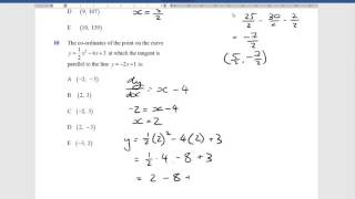 Mazenod 11 Methods Differential Calculus Test 2016 Solutions