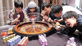 【カジノ潜入】ルーレットで1人10万ずつ賭けたら衝撃の結果に…!!