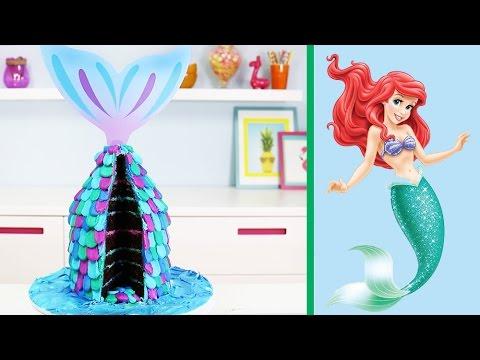 Easy Mermaid Cake How To Make A Little Mermaid Tail Cake Youtube