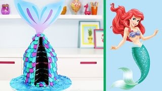 Easy Mermaid Cake - How to Make a Little Mermaid Tail Cake - YouTube