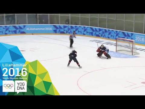 Ice Hockey - Men's Preliminaries - USA vs Finland   Lillehammer 2016 Youth Olympic Games